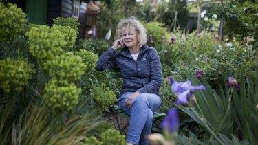 Crafty: Sandra McMahon in her Kilsyth garden.