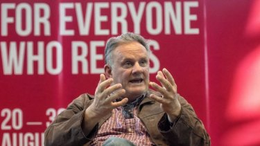 Mark Latham speaking at the Melbourne Writers Festival.