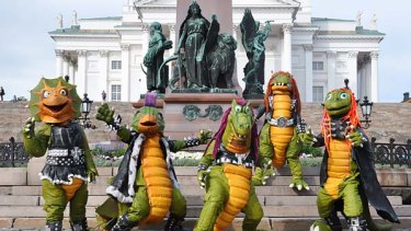Finnish children's heavy metal band Hevisaurus.