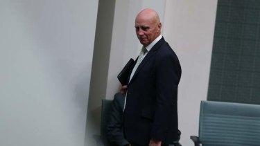 Labor MP Warren Snowdon leaves the chamber under 94a. Photo: Alex Ellinghausen
