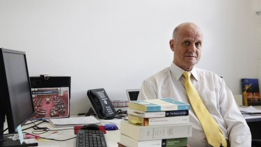 Liberal Democrat senator David Leyonhjelm in his Sydney office.