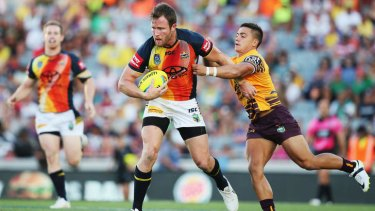 All stars: Gavin Cooper in action during his side's win in the inaugural Auckland Nines final.  The successful preseason tournament will be just one item on the agenda when the NRL meet to discuss the 2015 schedule.
