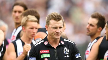Nathan Buckley is just one of a group of top Magpies under the pump.