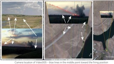 Video analysis from the Bellingcat report, which concludes that there is 'compelling evidence that artillery attacks on Ukrainian territory and against Ukrainian armed forces originated from the territory of Russia' in July and August last year.