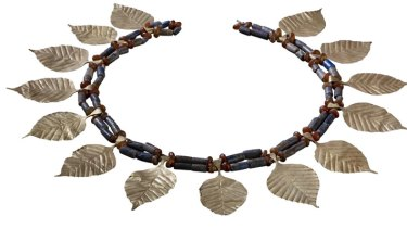 Lapis lazuli necklace from the Sumerian city, Ur.