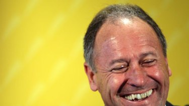 Laughing all the way to the bank ... Commonwealth Bank chief Ralph Norris.