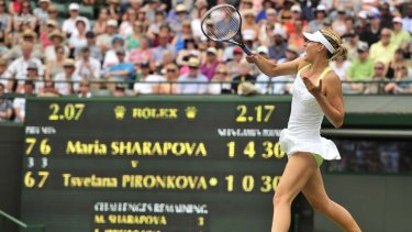 It was not her best performance, but Maria Sharapova survived it.