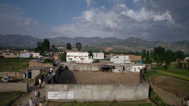 The exterior of the Abbottabad compound where bin Laden was killed.