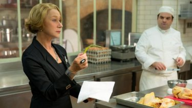 Helen Mirren does not approve: One half of the kitchen battle in <i>The Hundred-Foot Journey.</i>