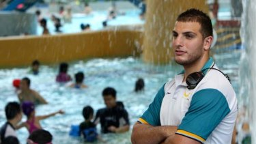 """""""The training really opened doors for me"""" ... Shadi Ghazal, 24, who has worked as a lifeguard at Sydney Olympic Park Aquatic centre for three years."""