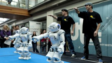 New world of opportunity: A robotics demonstration at the University of Technology, Sydney.