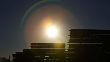Madridejos, Spain. Solar PV prices are down 80 per cent in the past few years.