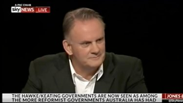 """Mark Latham was sacked by Sky News last week after calling a Sydney high school student """"gay""""."""