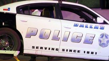 A Dallas police vehicle.