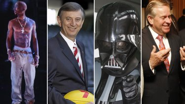 Tupac's hologram, Dennis Cometti, Darth Vader and Colin Barnett - all parody hits on Twitter.