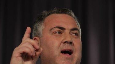 Shadow Treasurer Joe Hockey addresses the National Press Club of Australia in Canberra on Wednesday 16 May 2012. Photo: Alex Ellinghausen