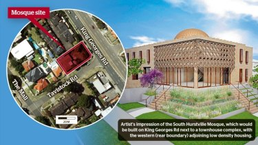 The proposed mosque at South Hurstville has attracted attention from right-wing groups.