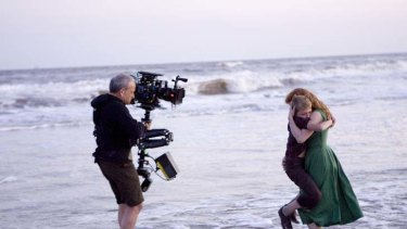 Big name hunter ... Terrence Malick filming The Tree of Life.
