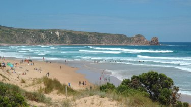 Cape Woolamai, Philip Island, where seven swimmers were rescued on Sunday.