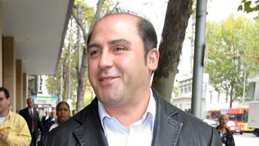 Tony Mokbel leaves the Melbourne Magistrates Court in May 6, 2004.