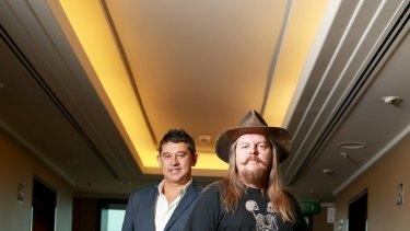 Guvera co-founders Darren Herft and Claes Loberg.