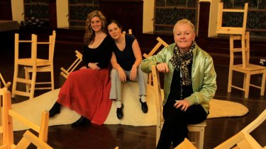 Seduction ... Bryony Dwyer and Julie Goodwin in rehearsal with director Kate Gaul.
