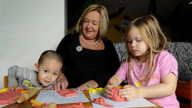 ACT Community Services Minister Joy Burch at the Binara Early Childhood Centre.
