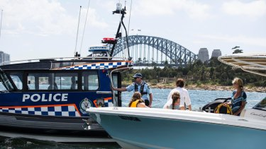 Water police are conducting random breath tests and boat checks on Sydney Harbour.