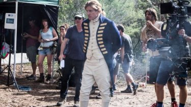 Fatal shore ... David Wenham as Governor Arthur Phillip on the set of <i>Banished</i> at Manly Dam.