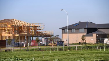 Melbourne's frontline: Property development in Cranbourne.