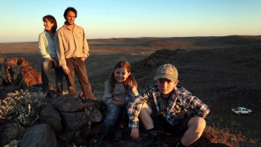 Emma and Peter Ashton (pictured with their two children) manage Boolcoomatta Reserve for Bush Heritage, working and living at the forefront of flora and fauna conservation.