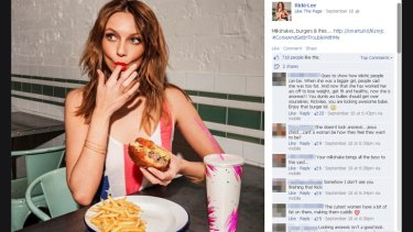 """Ricki-Lee's <i>Come And Get In Trouble With Me</i> lyrics """"milkshakes, burgers and fries"""" drummed up discussion about her weight."""