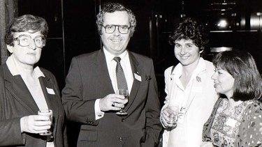 Spreading goodwill ... left to right, Joan Bileski, the Hon. Terry Sheahan, Helen L'Orange and Vasilo Nihas.