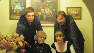Picking up the pieces ... the family of victim Damian Jurd. Clockwise from bottom left, mother, Claire Jurd, son, Roman Jurd, brother, Peter Jurd and daughter, Claire-Anne.