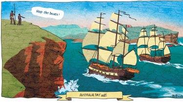 Australia Day one, 1788.