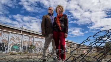 Helen Halliday, with former Port Phillip councillor David Brand, from the Fishermans Bend Network group, campaigned for better planning for the new area. They are disappointed in the latest approval.