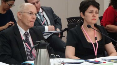 Acting CMC chair Ken Levy and Acting Misconduct Assistant Commissioner Kathleen Florian