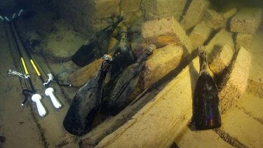 The 170-year-old champagne on the ocean floor.