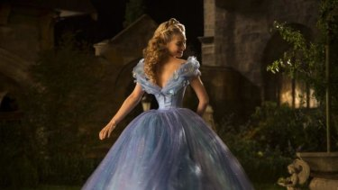 Lily James stars as the title character in Kenneth Branagh's <i>Cinderella</i>.