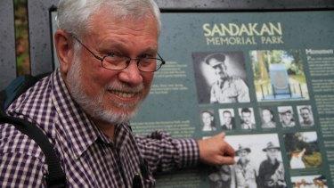 Dick Braithwaite at Sandakan Memorial Park.