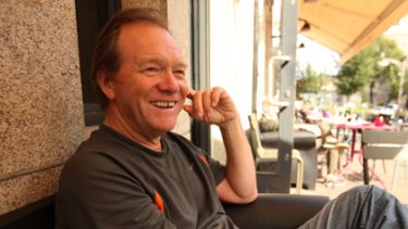 ''I had such butterflies'' ... Ken Thompson in Amsterdam yesterday after meeting his son for the first time in 2½ years.
