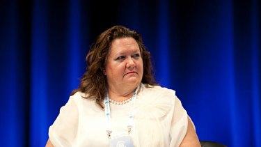 Gina Rinehart ... not amused.