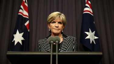 """We are looking at giving ASIS the capacity to carry out activities on Australians in Syria and Iraq"": Foreign Affairs Minister Julie Bishop."