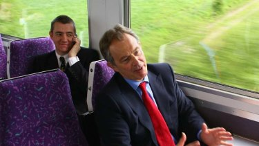 John McTernan, left, with his former boss Tony Blair, is now director of communications for Julia Gillard.