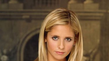 Sarah Michelle Gellar as Buffy the Vampire Slayer.
