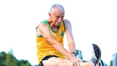 Consecutive half-marathons ... Roger Hillsdon, aged 71.