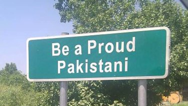Loyal ... a sign in Abbottabad.