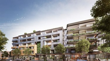 Going up in Melbourne's western suburbs: artist's impression of developer AVIC Group's planned Cowper Residences in Footscray.