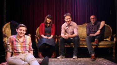The Giant Dwarf crew: Ben Jenkins, Zoe Norton Lodge, Craig Reucassel and Julian Morrow.