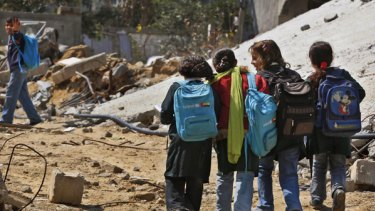 Palestinian children are suffering from stunting and other medical conditions.